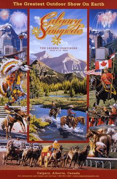Original Calgary Stampede Poster Ad July 5 14 2002 34 x 22 Cowboy Art, Cowboy And Cowgirl, Chuck Wagon, Horse Gear, Poster Ads, Dog Boarding, Wild West, Calgary, Travel Posters