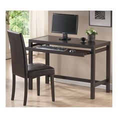 2 Piece Mesa Computer Desk  Chair Set