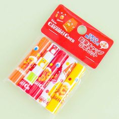 Tohato Caramel Corn Pencil Cap Set