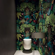 40 Cozy Small Powder Room Design Ideas - Home renovation 2019 , Small Downstairs Toilet, Small Toilet Room, Downstairs Cloakroom, Small Toilet Design, Wallpaper Toilet, Powder Room Design, Decor Interior Design, Modern Interior, Interior Inspiration