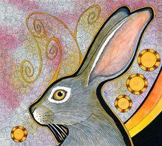 Original  Cape Hare as Totem von ravensdreaming