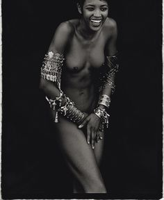Peter Lindbergh's portrait of Naomi Campbell for Vogue Italy, 1988,