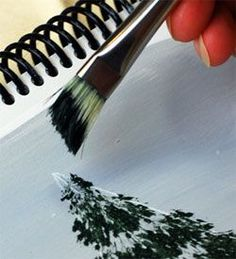 Want to learn how to paint trees? This very detailed step-by-step tutorial will show you how to paint 4 different trees. You will amaze yourself and enjoy these techniques every time you use them.