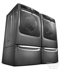 Maytag Maxima XL Front Load Steam Washer and Steam Dryer SET (Electric Dryer) with Pedestals * This is an Amazon Affiliate link. Click image to review more details.