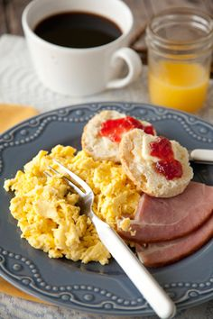 Paula Deen -- The Lady's Perfect Scrambled Eggs (Ingredients include  sour cream and water.)