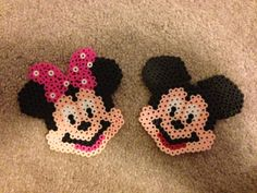 Perler Bead Mickey and Minnie Mouse by MinisByKatey