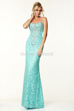 Lace Evening Dress Sweetheart Beaded Sexy Party Prom Gown Floor Length Simple Silhouette Vestidos De Gala New