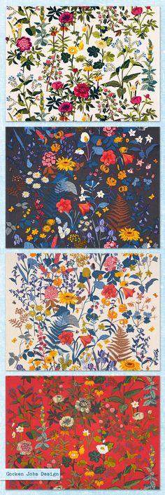 Gocken Jobs Design handprinted textiles.