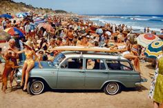 EH Holden Station Wagon - one of Australia's greatest coast cruisers. The surf wagon! Vintage Surfing, Surf Vintage, Retro Surf, Vintage Travel, Vintage California, Retro Pop, California Beach, Woody, Holden Wagon