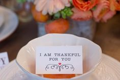 Thanksgiving Gathering Party Ideas from AmysPartyIdesa.com and Swoozies.com   Thankful Cards