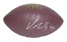 Atlanta Falcons Vic Beasley signed NFL Wilson full size football w/ proof photo.  Proof photo of Vic signing will be included with your purchase along with a COA issued from Southwestconnection-Memorabilia, guaranteeing the item to pass authentication services from PSA/DNA or JSA. Free USPS shipping. www.AutographedwithProof.com is your one stop for autographed collectibles from Atlanta sports teams. Check back with us often, as we are always obtaining new items.