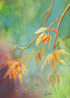 I want to do an autumn leaves painting soon! Here's some inspiration