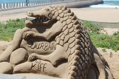 Sand Art, titled 'Durban is kiff'. Kiff is a slang word for nice or great. Kwazulu Natal, Indian Heritage, Game Reserve, Sand Art, The Province, Vacation Packages, Africa Travel, South Africa, Safari