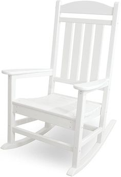 100 Cheap and Easy DIY Backyard Ideas - Prudent Penny Pincher Outdoor Rocking Chairs, Patio Chairs, Arm Chairs, Outdoor Seating, Outdoor Decor, Rockers, Classic White, Classic Style, White White