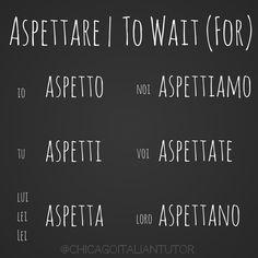 Learning Italian Language ~ aspettare | to wait