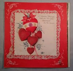 1943 Hallmark Sweatheart Military Service Valentine Card Lace Embossed Signed   http://stores.ebay.com/aswegrow2
