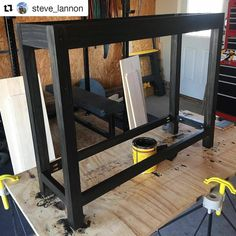 The #compact #CentipedeSupport is handy to have tucked away for when you need a little extra #workspace for putting the #finishing touches on #custom #woodwork projects. Repost via @steve_lannon:    Coming alive now.  #minwaxstain ・・・  with @repostapp  #CentipedeTool #temporary #woodshop #worktable #portable #workshop #workbench #stand #platform #base #sawhorse #carpentry #joinery #woodworking #woodfurniture #craftsman #interiordesign #staining #painting #minwax #furniture #make #tools