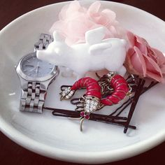 """""""My new jewelry dish from #ZGallerie...I just love it! #whenpigscanfly"""" - Kim"""
