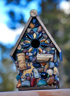 Mosaic Birdhouse...try with glass and clay