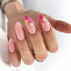 Chic Nails, Classy Nails, Fancy Nails, Stylish Nails, Simple Nails, Trendy Nails, Nagellack Design, Oval Nails, Oval Nail Art