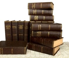 "This rare set of Dickens will look wonderful in your library and will dress up any decor.  Beautiful brown bindings in a vintage and complete set!  Over 26"" of gorgeous books.  https://www.etsy.com/listing/512928849/charles-dickens-works-16-volume-set  #vintagebooks #shelfdecor #books #charlesdickens #dickens #decoratewithbooks #bookshelf #booksbythefoot #decoratorbooks"