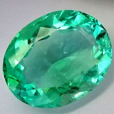9.28Ct Certified Oval Cut Colombian Natural Green Emerald  Gem-For Ring #LooseColombianEmerald