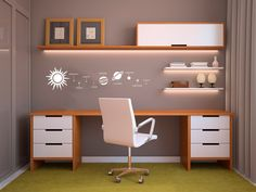 Solar System Wall Decal Custom Vinyl Art Stickers Small Office Desk, Home  Office Table,