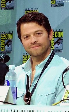 [Gif] set. Click to see the cuteness! I adore this man. His kindness and quirkiness just radiate from him.