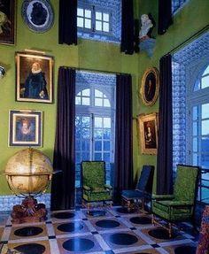 Chateau de Groussay--floor looks similar to floor in a Miles Redd foyer