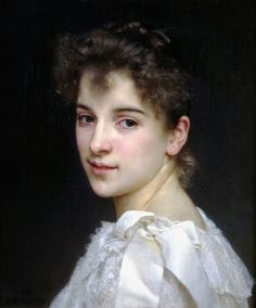 portrait de Gavrielle //.Bouguereau love that it looks as real as a photo! Amazing technique!