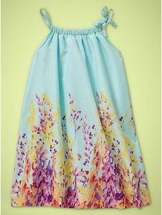 Shirred floral dress from baby Gap