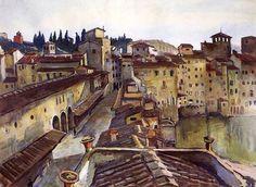 Zinaida Serebriakova, Firenze. Ponte Vecchio (1932)