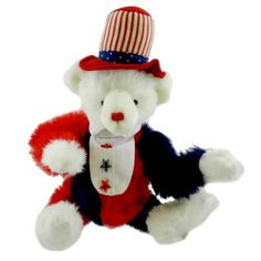 Boyds Bears Plush BENJAMIN SHUTTERBEAR 9200508 Artisian Patriotic Teddy Bear from Story Book Kids. (Item: 8289-9200508)
