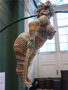 knitted sculptures by Julia Ustinova