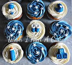 It's A Boy Babyshower Cupcakes by Wish I Had A Cake