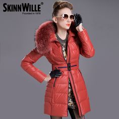 Find More Information about Luxury Fashion Winter Coat Women 90% White Duck Down Jacket With Racoon Fur Collar Zipper Front Winter Parka Long Sleeve 6 Color,High Quality coated board,China womens long wool coats Suppliers, Cheap coat wool women from Mei Li Say on Aliexpress.com