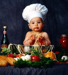 A CHEF is born.. PORTRAIT...Our chef's son on his birthday...such a cute portrait.... Aww...how cute....said everyone....