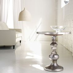 Hooker Furniture Melange Round Kenmar Pedestal Table In Faux Zinc - contemporary - side tables and accent tables - - by Wayfair Furniture Care, Hooker Furniture, Furniture Styles, Fine Furniture, Quality Furniture, Unique Furniture, Furniture Design, Gray Furniture, Cheap Furniture