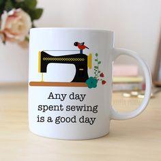 Quilters Coffee Mug Sewing Coffee Mug Quilting by JoyfulMoose