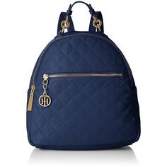 Tommy Hilfiger Isabella Quilted Nylon Backpack (£25) ❤ liked on Polyvore featuring bags, backpacks, rucksack bags, tommy hilfiger backpack, tommy hilfiger bags, backpack bags and day pack backpack