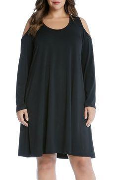 Karen Kane Cold Shoulder Trapeze Dress (Plus Size) available at #Nordstrom
