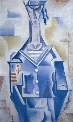 Josef Čapek (Czech 1887–1945) [Cubism] Námorník, 1913. Západočeská galerie v Plzni.