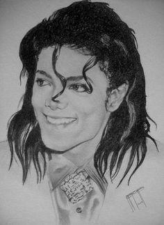 Michael Jackson Art - Michael Jackson 2 by Jeffrey Samuels Michael Jackson Tattoo, Michael Jackson Drawings, Michael Jackson Smile, Michael Art, Michael Love, Paris Jackson, Lisa Marie Presley, Michelangelo, Elvis Presley