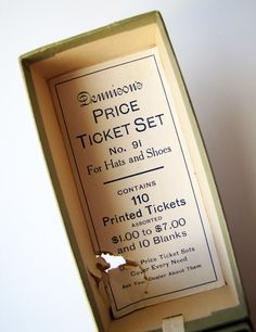 Charming Vintage Dennison's Price Ticket Set by TeaWithPavlova