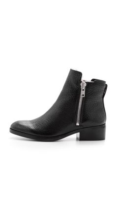 shearling lined black ankle boots // alexa boots by 3.1 phillip lim. obsessed.