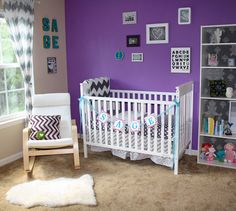 Modern Girl Nursery #chevron