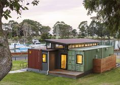 Cargo Container Home. Watch me building my cargo container home. Search and find local help that you may need for building your cargo container home at a minimal cost. Container Design, Cargo Container Homes, Shipping Container Home Designs, Building A Container Home, Container Cabin, Storage Container Homes, Container Buildings, Container Architecture, Container House Plans