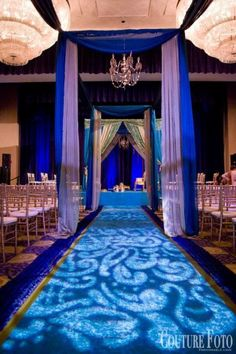 Love this setup with a #gobo #monogram on the #wedding #aisle at this #uplighting #reception! #diy #diywedding #weddingideas #weddinginspiration #ideas #inspiration #rentmywedding #celebration #weddingreception #party #weddingplanner #event #planning #dreamwedding by #couturefoto