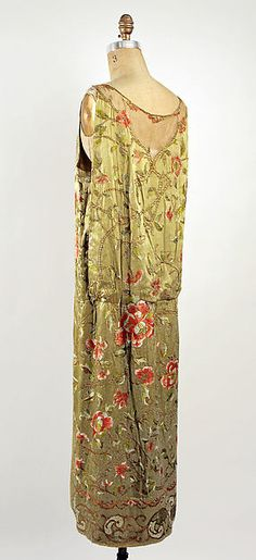 Evening dress (image 2 - back) | Callot Soeurs | French | 1923-24 | silk | Metropolitan Museum of Art | Accession Number: C.I.44.64.10