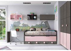 Dormitorio con compacto de 4 cajones y Armario